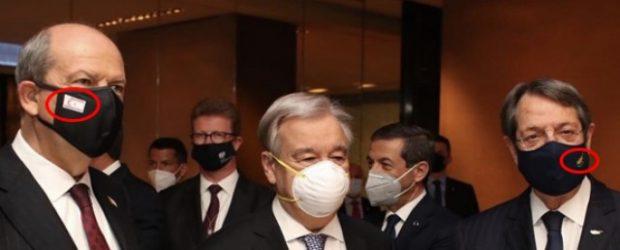 Liderler bayraklı maskelerle