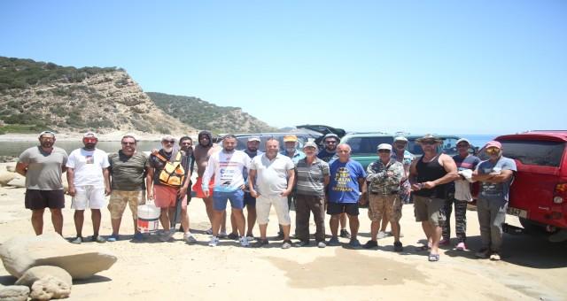 Kıyıda olta ile balık avlama yarışması gerçekleştirildi