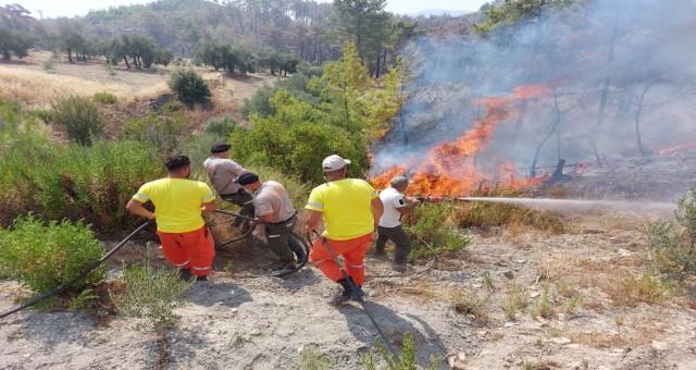 KKTC ekipleri yangın bölgesinde!