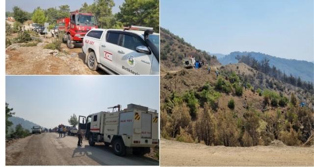 Sivil Savunma Teşkilatı ekipleri Manavgat'taki yangın söndürme çalışmalarına devam ediyor