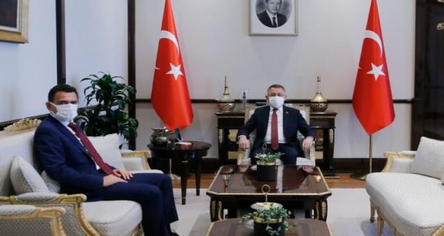 TC Cumhurbaşkanı Yardımcısı Oktay, Maliye Bakanı Oğuz'u kabul etti