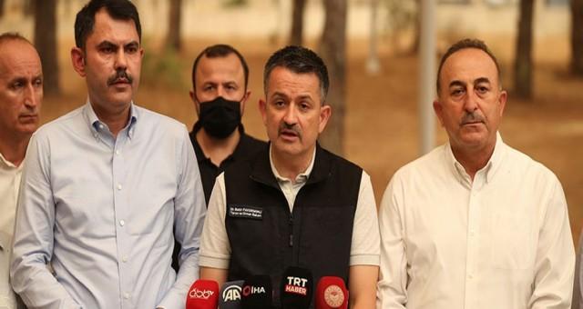 TC Tarım ve Orman Bakanı Pakdemirli: Yangınların 57'sini kontrol altına aldık