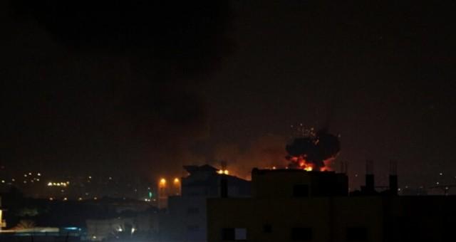 İsrail ordusu, Gazze Şeridi'nde bazı noktalara hava saldırısı düzenledi
