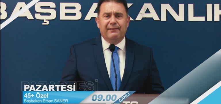 Başbakan Saner BRT'de soruları yanıtlayacak