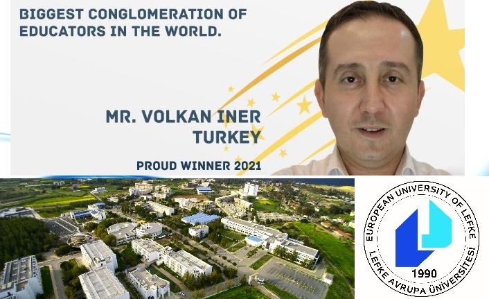 """LAÜ Mezunu İner, """"Küresel Öğretmen"""" ödülüne layık görüldü"""