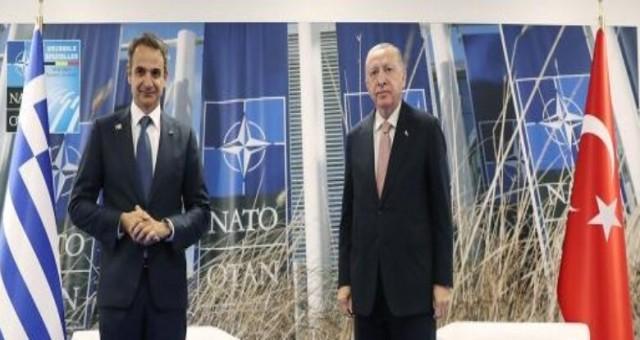 TC Cumhurbaşkanı Erdoğan Yunanistan Başbakanı Miçotakis ile görüştü