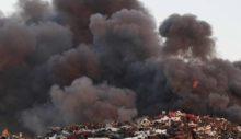 Güney Kıbrıs'ta Lefkoşa yakınında atık işleme tesisinde çıkan yangın sürüyor